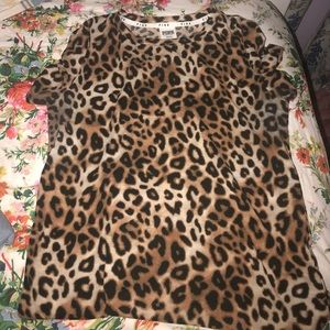 Pink Victoria's Secret Sleepwear Cheetah Print M